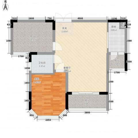 光耀荷兰堡1室1厅1卫1厨82.00㎡户型图