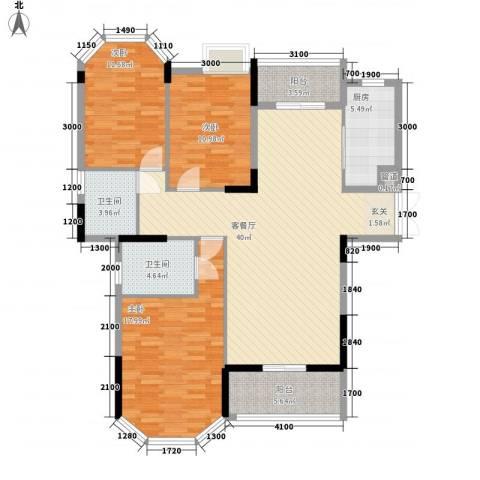 光耀荷兰堡3室1厅2卫1厨139.00㎡户型图