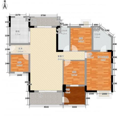 海锦御林苑二期5室1厅2卫1厨164.00㎡户型图