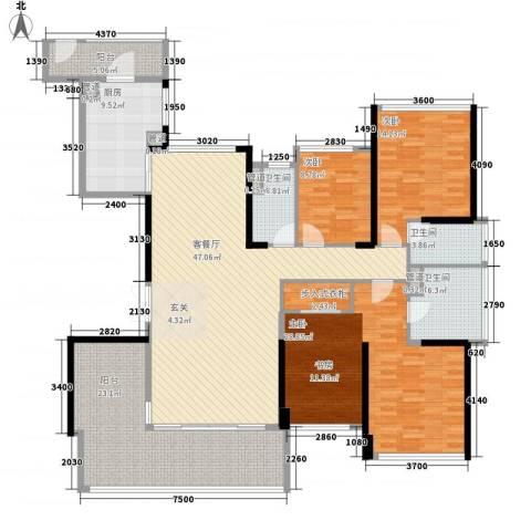 绿岛湖壹号3室1厅3卫1厨184.00㎡户型图