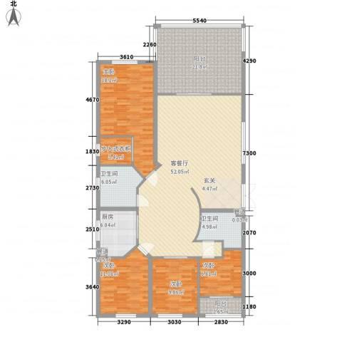 融景居(科技大厦)4室1厅2卫1厨198.00㎡户型图