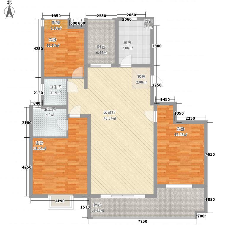 上善国际15.61㎡8、9、10、11栋D户型4室3厅2卫1厨