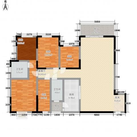 世纪城龙城壹号4室1厅2卫1厨214.00㎡户型图