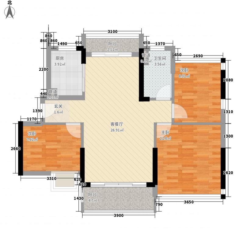 日升昌阳光御园三期F座05户型3室2厅1卫
