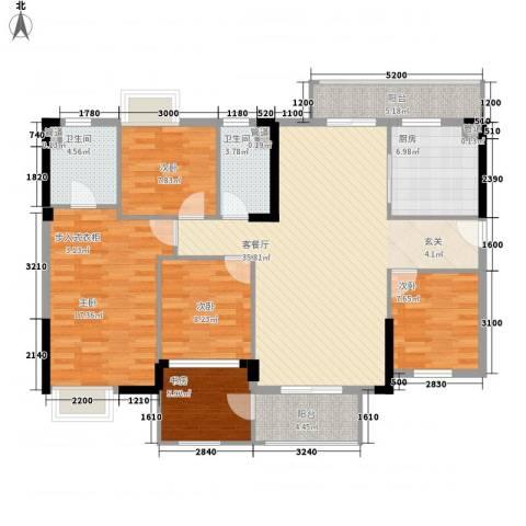 海锦御林苑二期5室1厅2卫1厨152.00㎡户型图