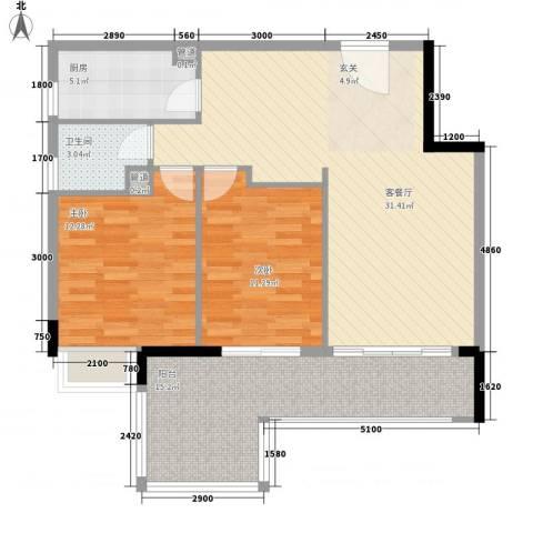 南湖庄园2室1厅1卫1厨328.00㎡户型图