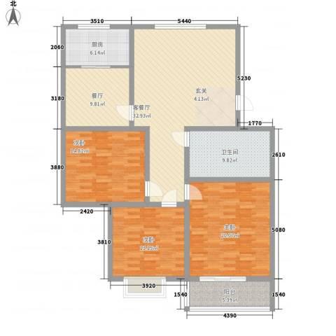 腾涛公寓3室2厅1卫1厨159.00㎡户型图