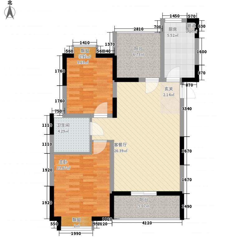 西山银杏89.90㎡西山银杏・芒果公寓户型图8#楼02、04、05户型2室2厅1卫1厨户型2室2厅1卫1厨