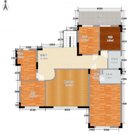 龙池长隆花园5室1厅2卫0厨206.00㎡户型图