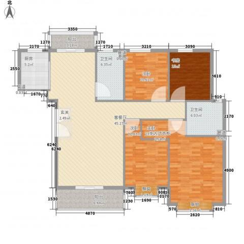 碧龙江畔4室1厅2卫1厨168.00㎡户型图