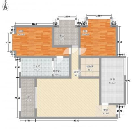 腾涛公寓2室1厅1卫1厨161.00㎡户型图