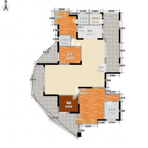 圣莫丽斯4室1厅3卫0厨307.00㎡户型图
