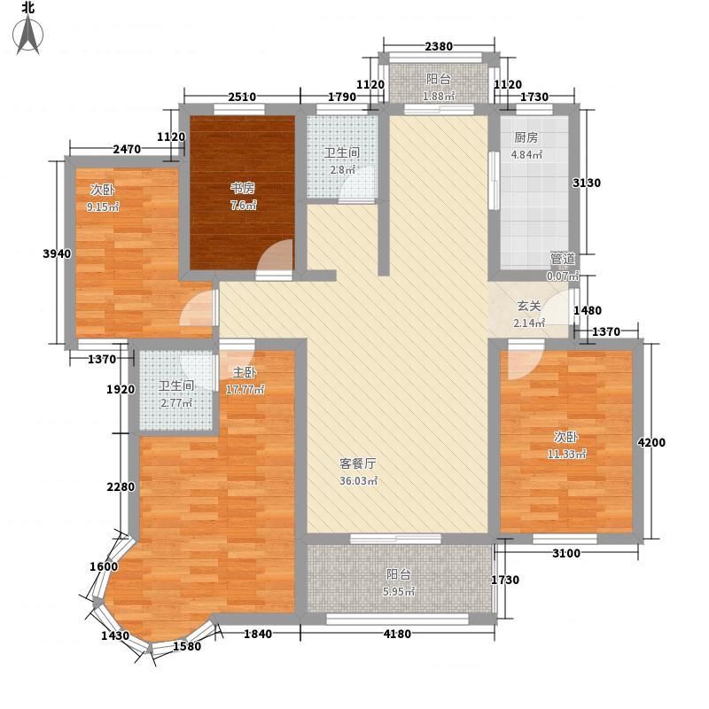 金帝城145.17㎡19号楼S户型4室2厅2卫1厨