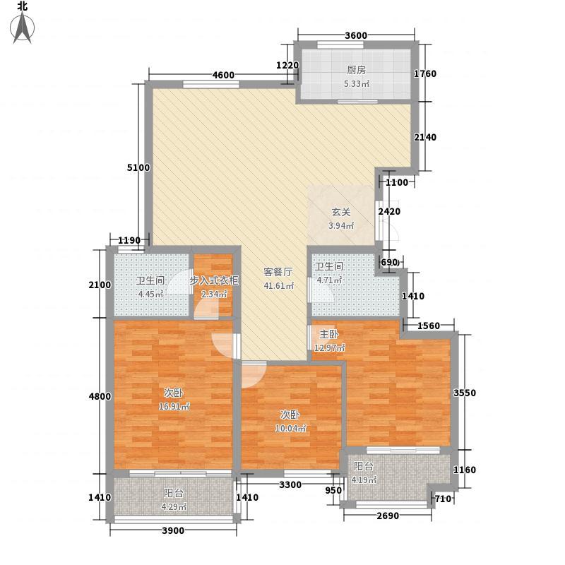 银丰花园6.00㎡3A号楼C3户型3室2厅2卫
