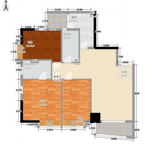 北京路五号公馆3室1厅2卫1厨139.00㎡户型图