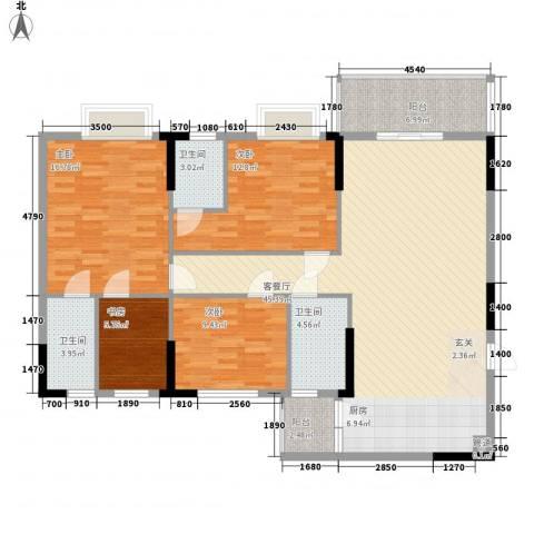东汇家园4室1厅3卫0厨130.00㎡户型图