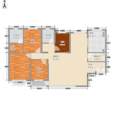 超达家园4室1厅2卫1厨167.00㎡户型图
