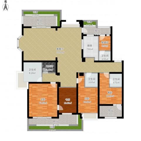 天正滨江4室1厅4卫1厨285.00㎡户型图