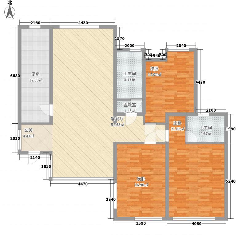世纪华庭181.16㎡C8户型3室2厅2卫1厨