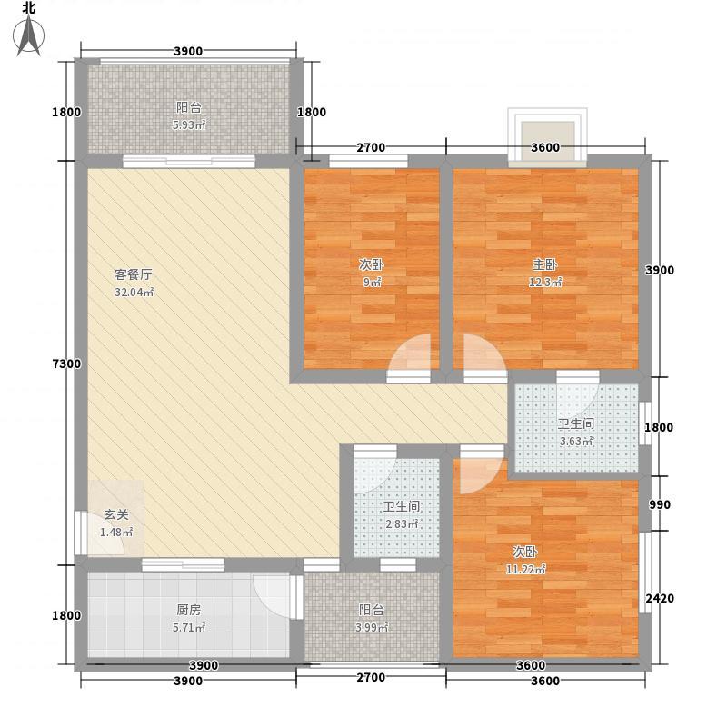 仙湖枫景11.66㎡实用户型3室2厅2卫1厨