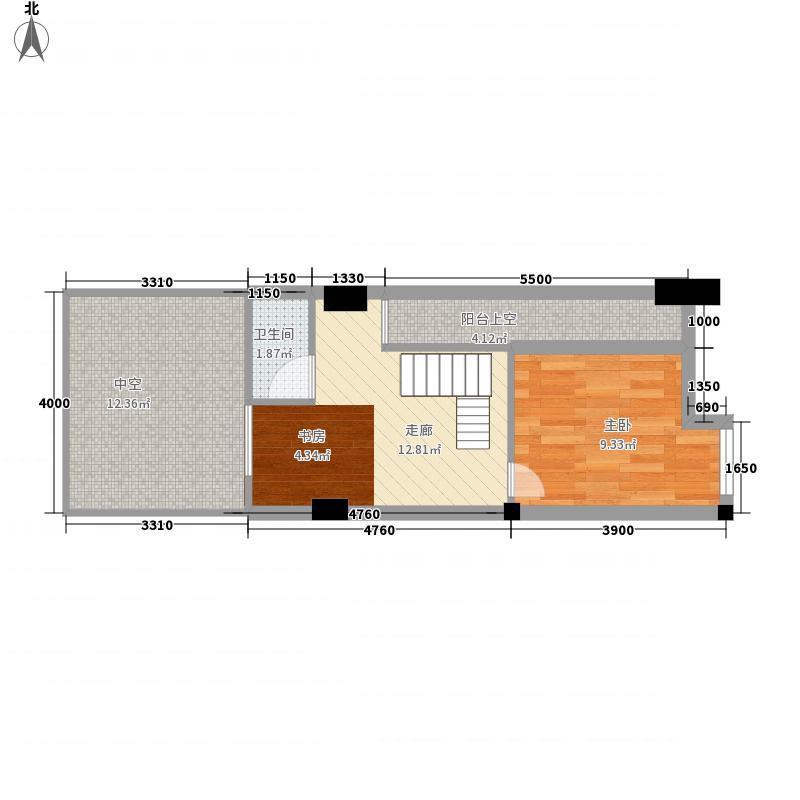 南棠蜜地51.00㎡二期5号楼标准层D户型3室2厅1卫1厨