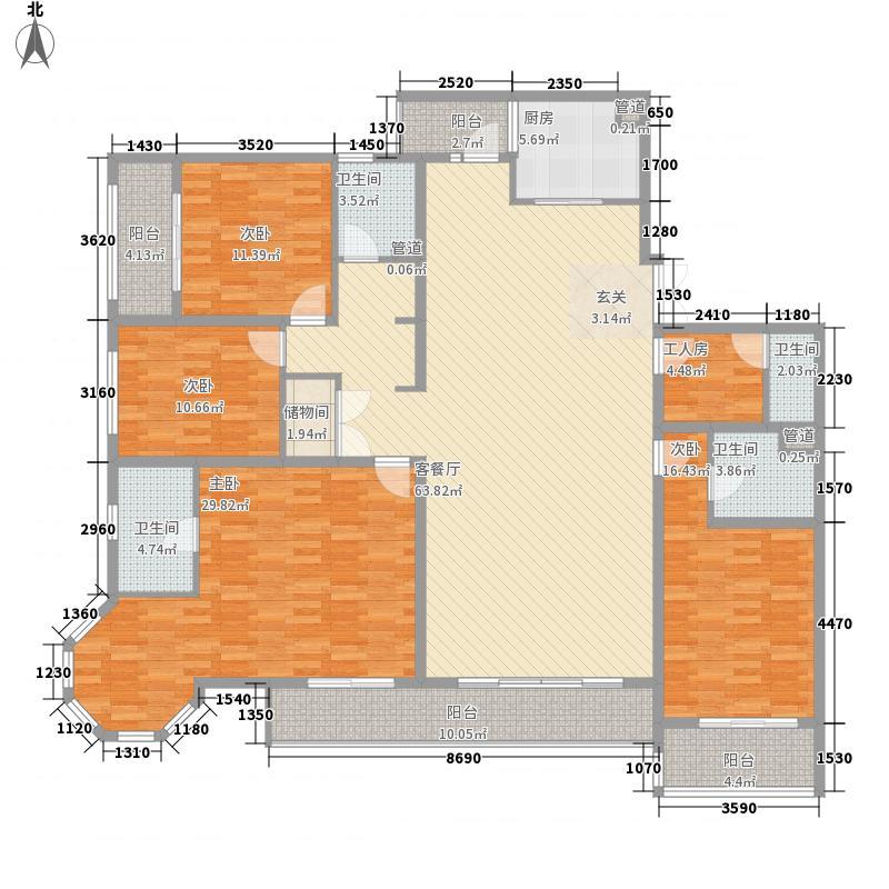 融城・昆明湖237.00㎡V3户型5室2厅4卫1厨