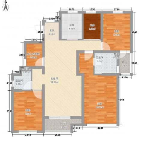 永达花园4室1厅2卫1厨123.00㎡户型图