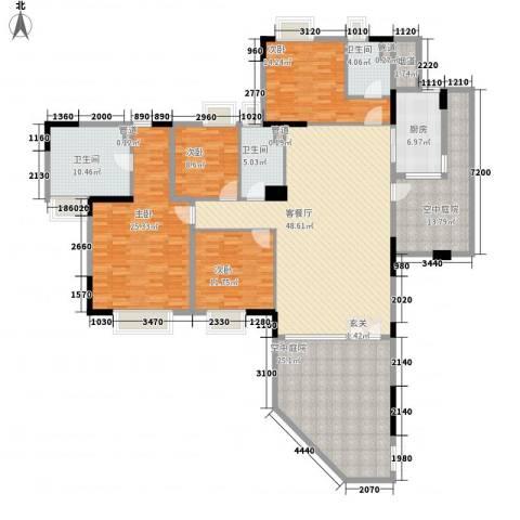 海畔嘉苑4室1厅3卫1厨196.00㎡户型图