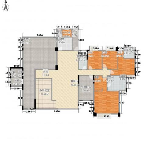 海畔嘉苑4室1厅3卫1厨281.99㎡户型图