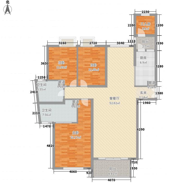 世茂外滩花园182.16㎡世茂外滩花园户型图3室2厅2卫户型10室
