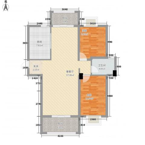 东城华庭2室1厅1卫1厨79.68㎡户型图