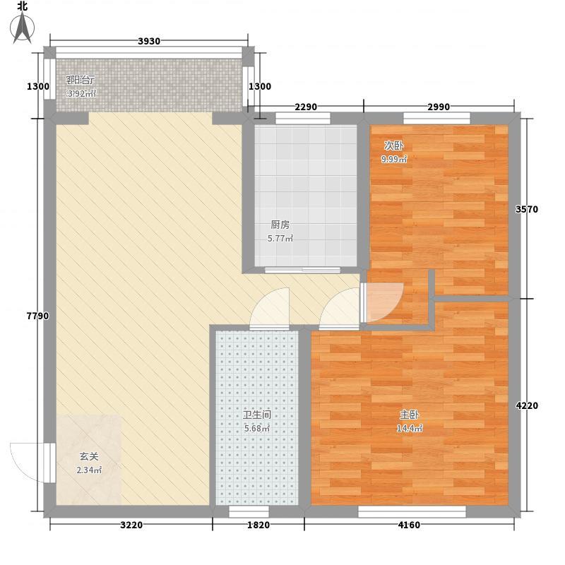 城建小区3户型2室2厅1卫1厨