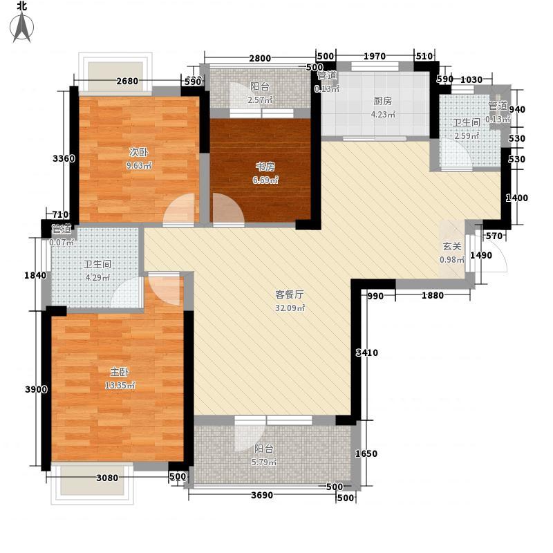 万景橘苑116.00㎡1、2、3号楼6D1户型