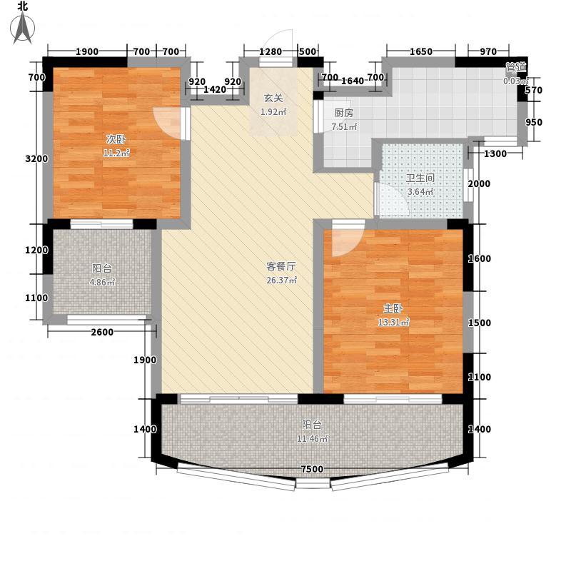瑞都广场2室1厅1卫1厨78.37㎡户型图