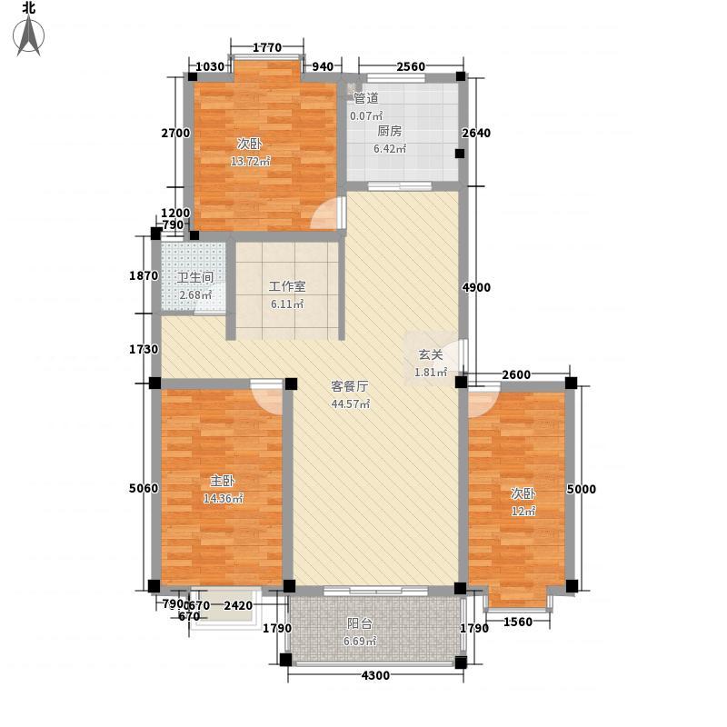 齐鲁涧桥125.58㎡齐鲁涧桥户型图G户型3室2厅户型3室2厅