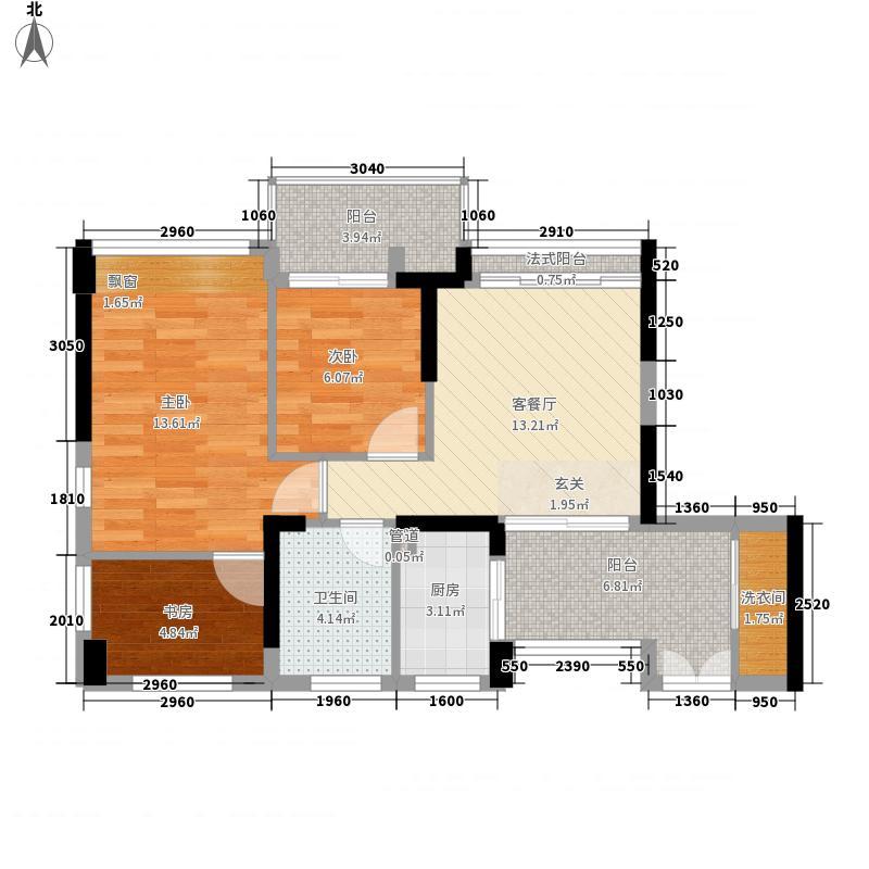 佳兆业水岸新都二期86.09㎡佳兆业水岸新都二期户型图22号楼――01户型10室