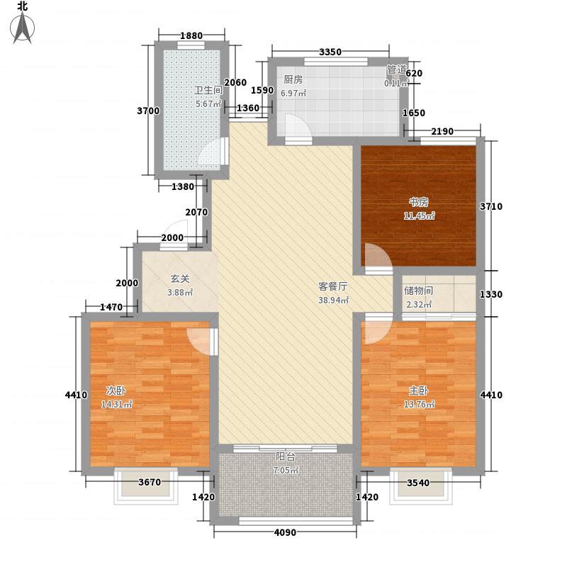 恒盛都市豪庭13.00㎡20号楼d-10户型3室2厅1卫1厨