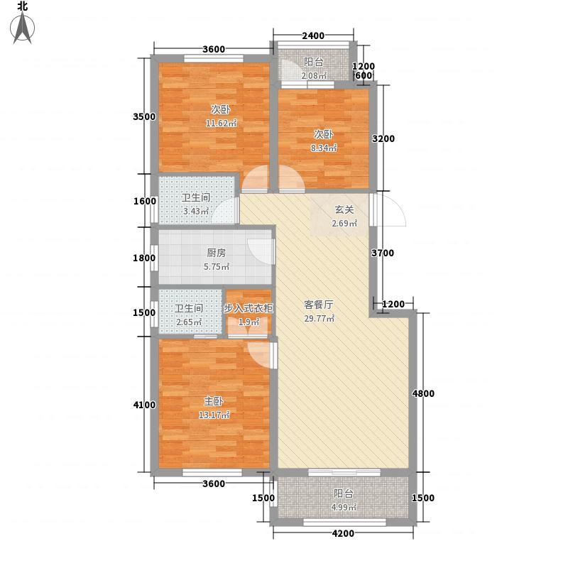 开元观沧海14.55㎡L1户型3室2厅2卫1厨