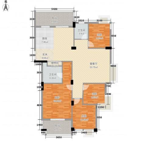 宾果704室1厅2卫0厨161.00㎡户型图