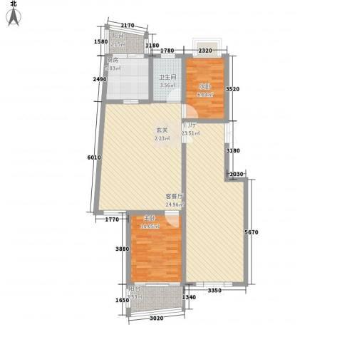 永大清华园2室1厅1卫1厨144.00㎡户型图