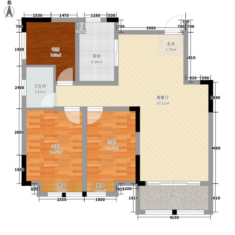 湘江学府二期4栋标准层02户型