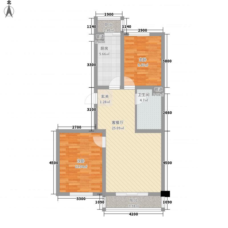 亚太西苑户型2室