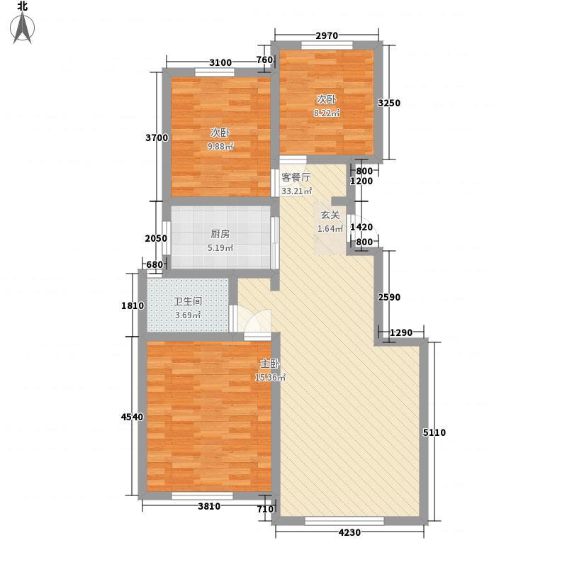 三和翠雍星城114.15㎡C1户型3室2厅1卫1厨
