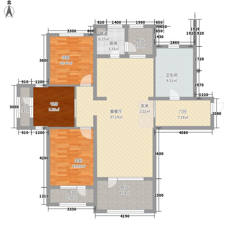普罗旺斯Ⅱ期137.85㎡19#楼N户型3室2厅1卫1厨
