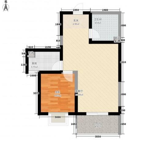 莱茵香榭1室1厅1卫1厨67.00㎡户型图