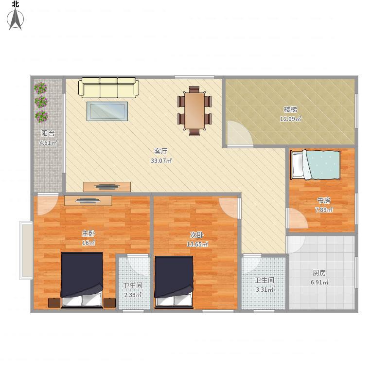 罗定三居室自建房-设计方案