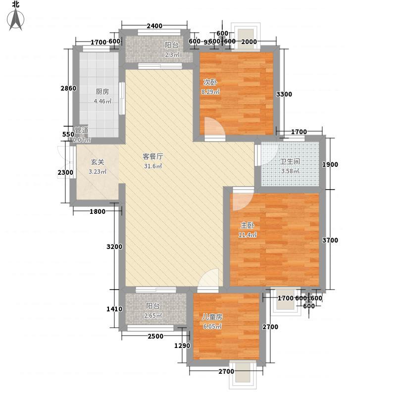 金辉城江城里一期洋房所有楼栋标准层C3户型