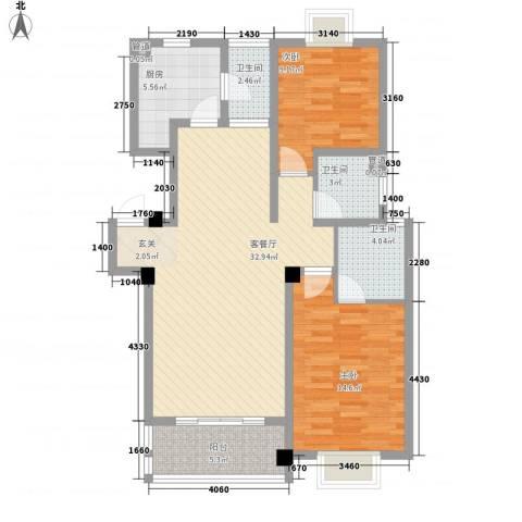 碧螺山庄2室1厅3卫1厨112.00㎡户型图