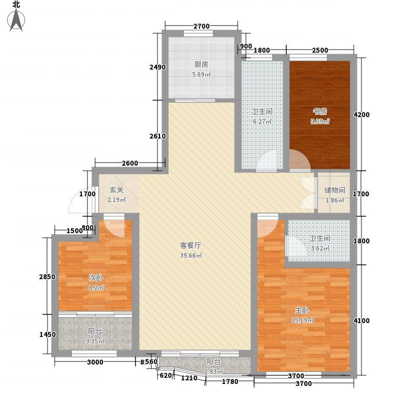 和谐家园111户型2室2厅1卫1厨