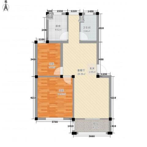 闽泰城市花园2室1厅1卫1厨89.00㎡户型图